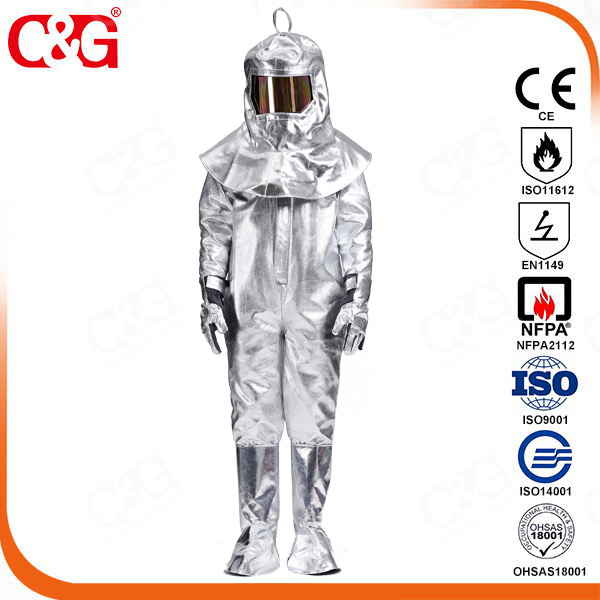 Aluminized coverall/suit 10H