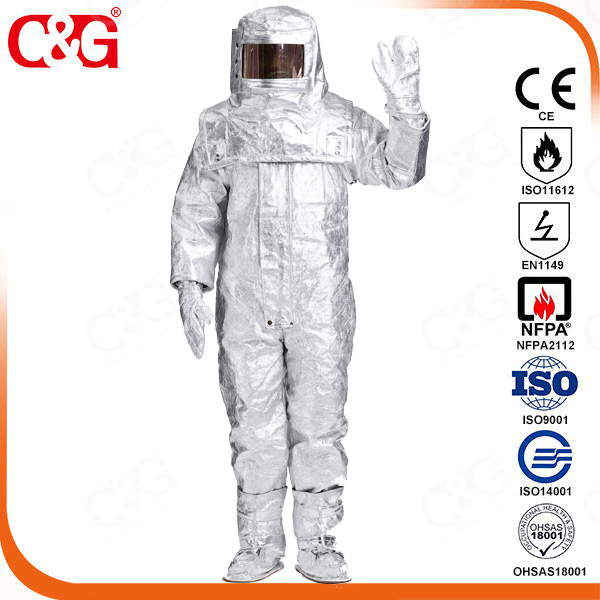 Aluminized thermal insulation clothing