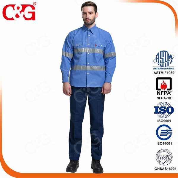 6 cal/cm2 arc flash protection shirt and trousers