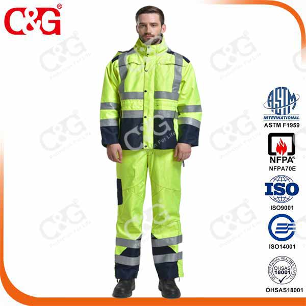 Arc Flash Raincoat Waterproof Coverall 20Cal/cm2