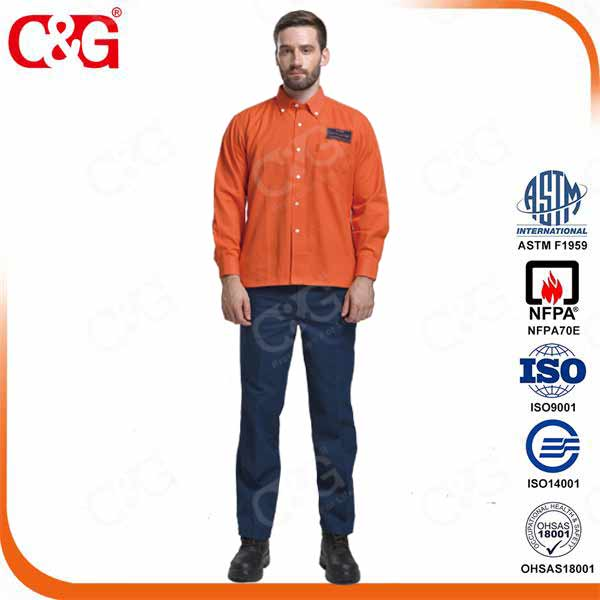 Cat III 33 cal/cm2 Fr Arc Flash Protection Jacket and Pants Suit