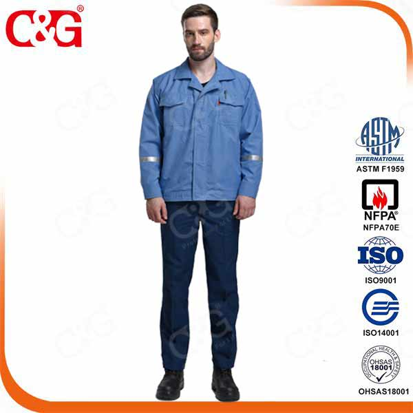 8.7cal high quality electric arc protection suit and electric arc safety clothing