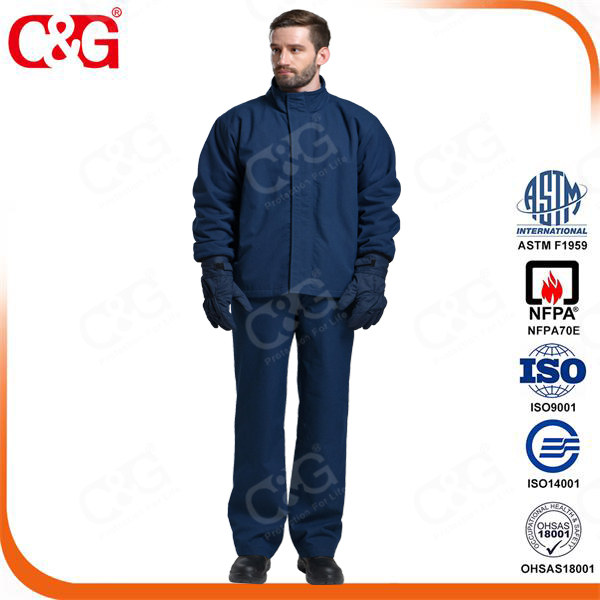 Cat4 electrician uniform for 40cal/cm2 Arc Flash Protection