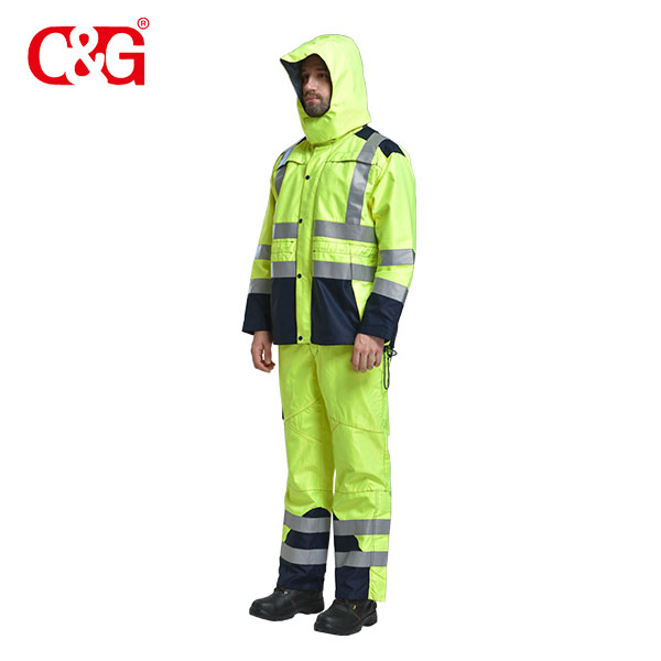 Flame Resistant Anti-Arc Anti-Static Hi Vis Waterproof Jacket/Coat & Pant