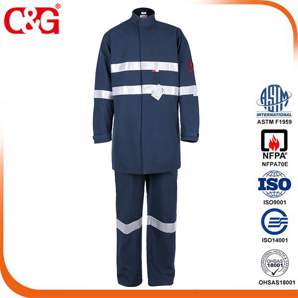 CAT 4 40 cal arc flash robe and pant with Reflective Tapes