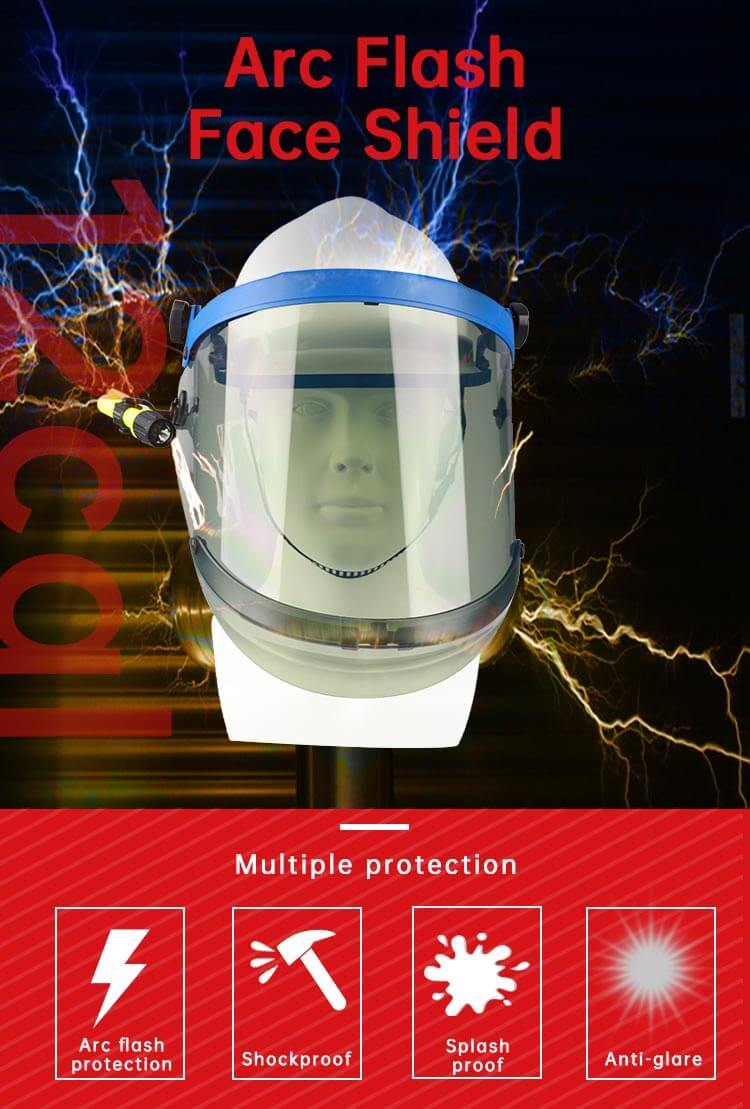12 Cal Arc Flash Protection Face Shield Unit