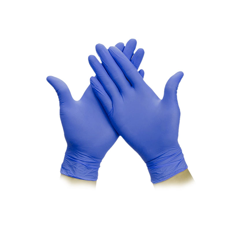 Disposable medical nitrile inspection gloves (powder-free)