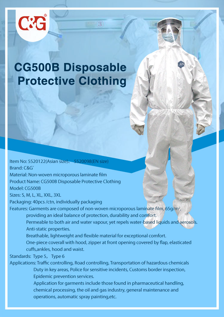 CG500B Disposable Protective Clothing