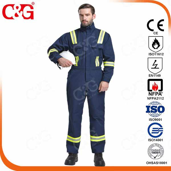 320g 100% cotton fire-resistant protection coverall