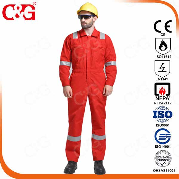 fire retardant Aramid coverall for oil and gas