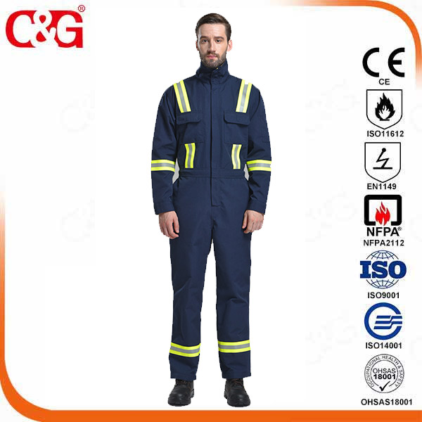 Oil and Gas Safety Supply Flame Resistant Reflective Coverall