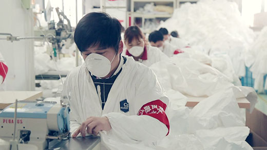C&G are producing disposable coveralls 24h a day, supporting global fight the new coronavirus.
