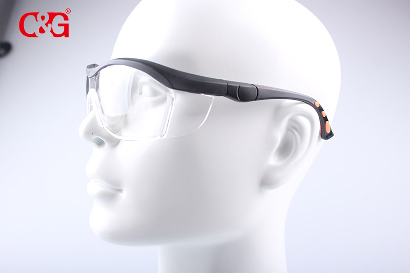 Adjustable length safety functions protective glasses/eyewear