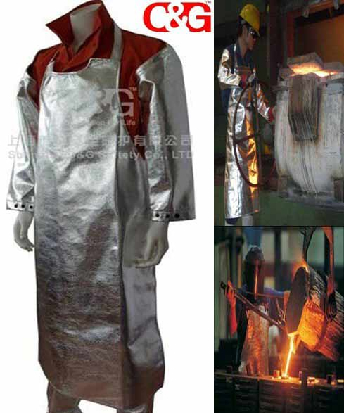 Aluminized Fire Suit heat resistant clothing fireproof suit