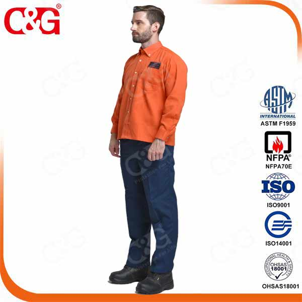 8 cal elecrical arc flash working shirt