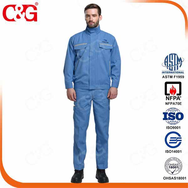 8 cal electrical arc flash safety suit with reflective tape