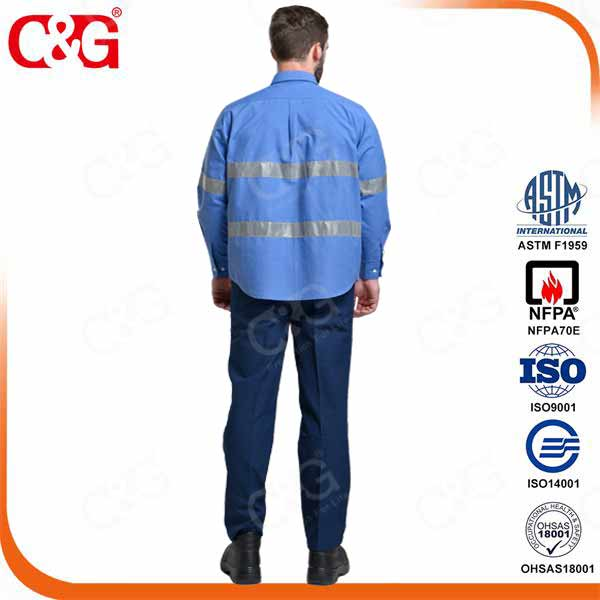 6cal/cm2 electrical arc flash protection working shirt and trousers