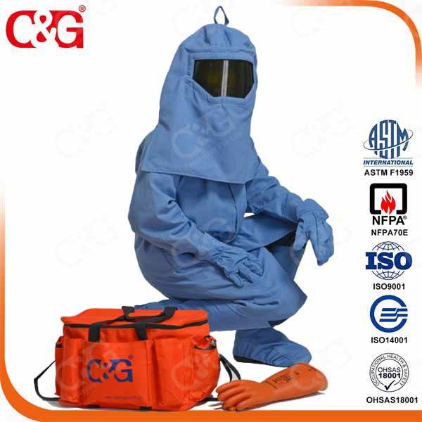 Cat4 40cal/cm2 Arc Flash hood with fan system