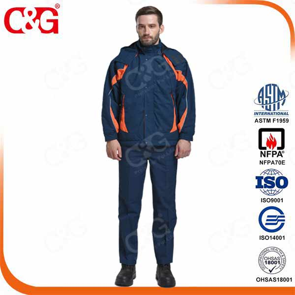 arc flash protective suit fire retardant coverall