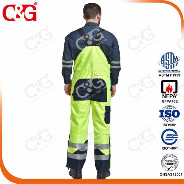 Electrical arc and flame resistant military raincoat with 3m reflective stripe