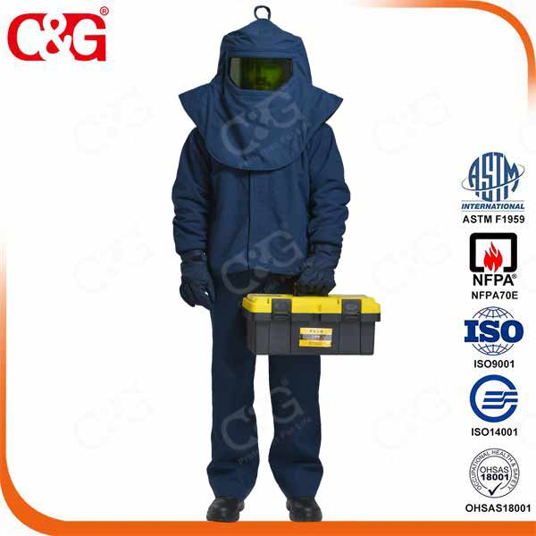 Cat IV 55cal/cm2 Arc Flash Suit Including Jacket and Biboverall