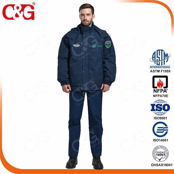 Arc Flash Protection Winter Jacket Working Uniform Workwear 12Cal