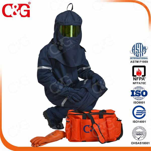 Navy 40cal electric arc flash protection clothing as arc flash suit
