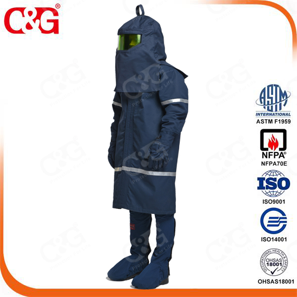 Cat4 40cal/cm2 Arc Flash suit with fan system