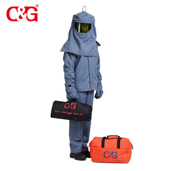 wholesale price 40cal arc flash protective fire resistant bib jacket pants & hood