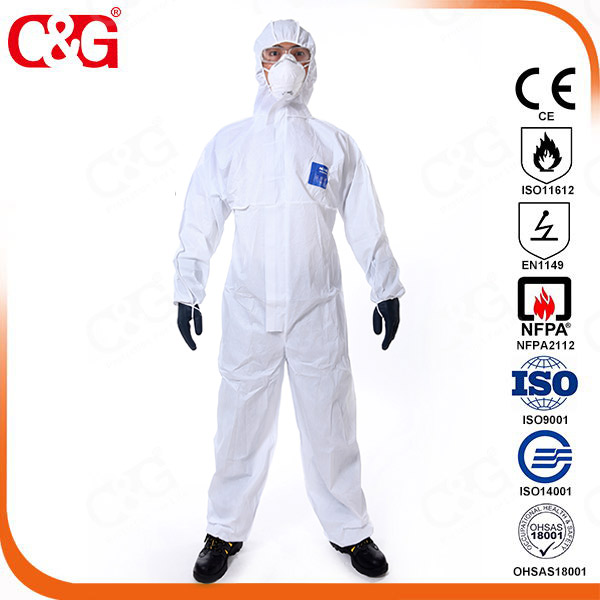 SMS chemical resistant coveralls