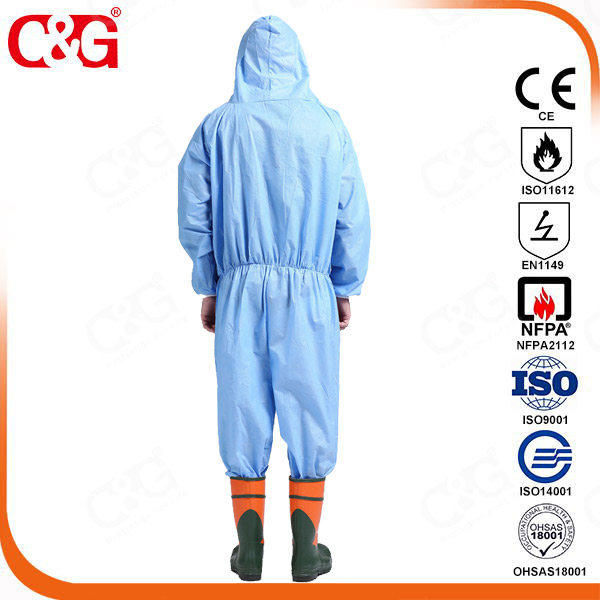 Solid particulates Protective clothing