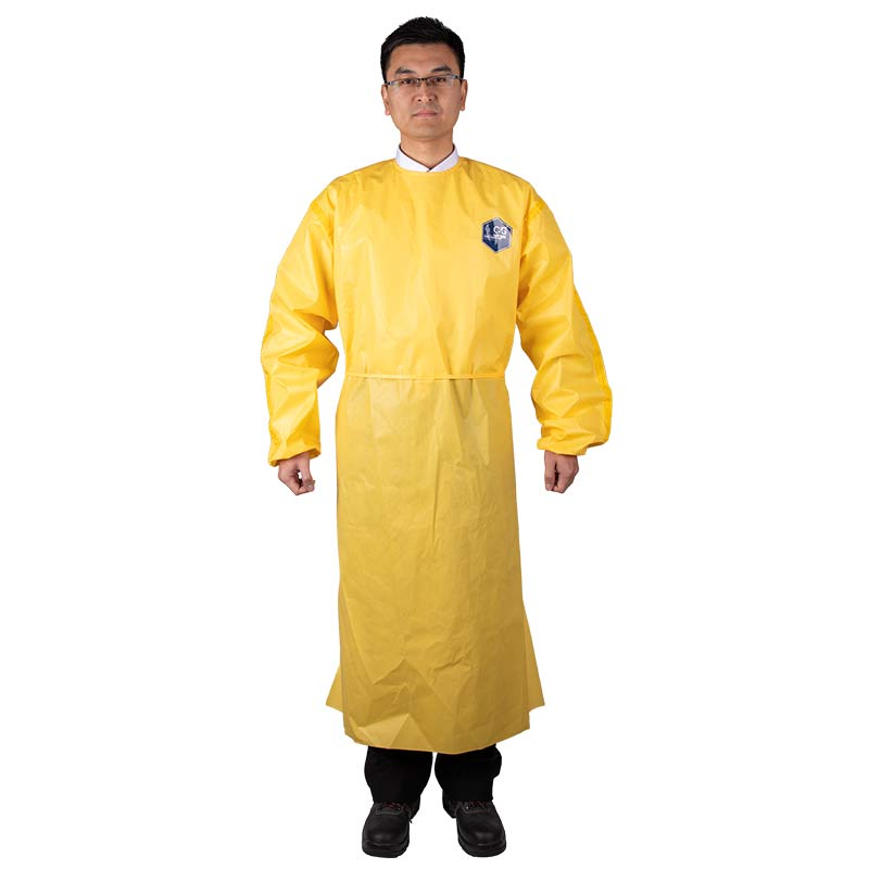 Chemical protective apron with back wear CG300BA1