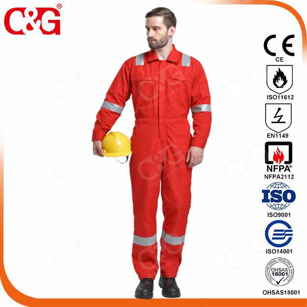 fire resistant Aramid coverall for oil and gas