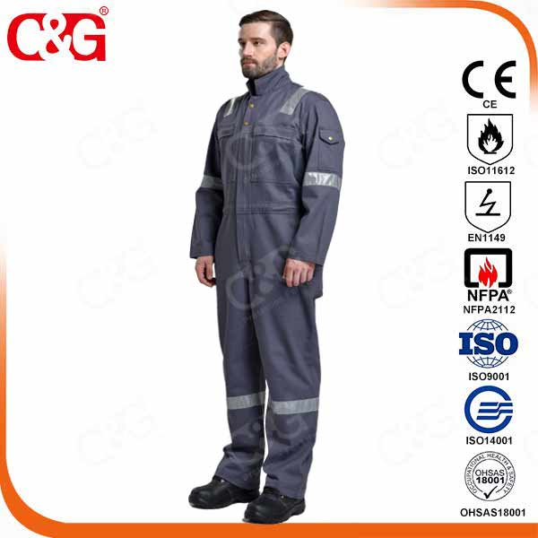 100% FR Cotton safety coverall