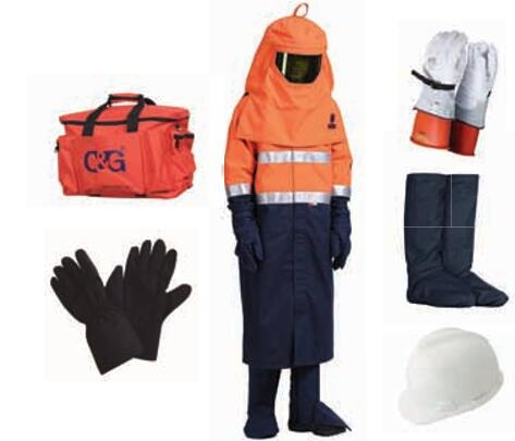 55cal/cm² Arc Flash Protective Clothing Kit