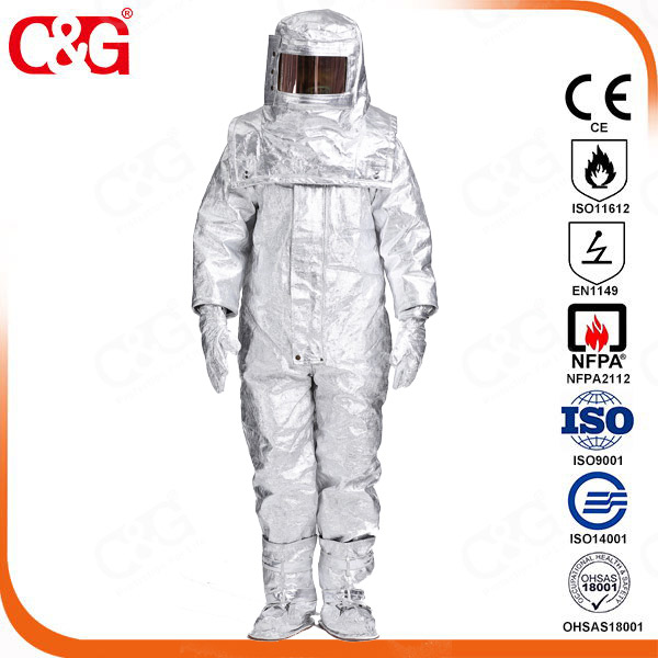 C&G Safety's aluminized clothing Withstand high-heat up to 1600℃