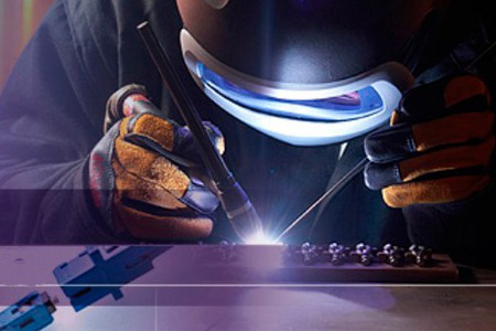 What are the safety protection measures for the welding operation?