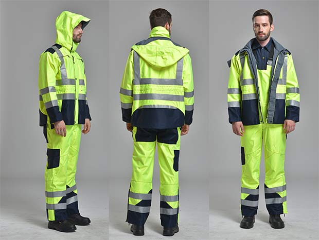 High Visibility Nomex FR Raincoat