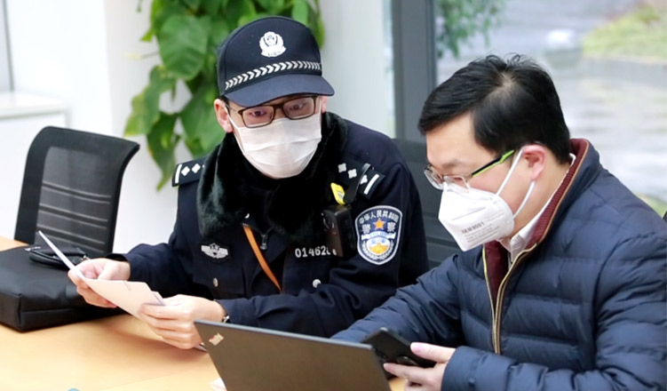 Shanghai police took the initiative to assist with C&G to ensure the safe production of disposable protective clothing