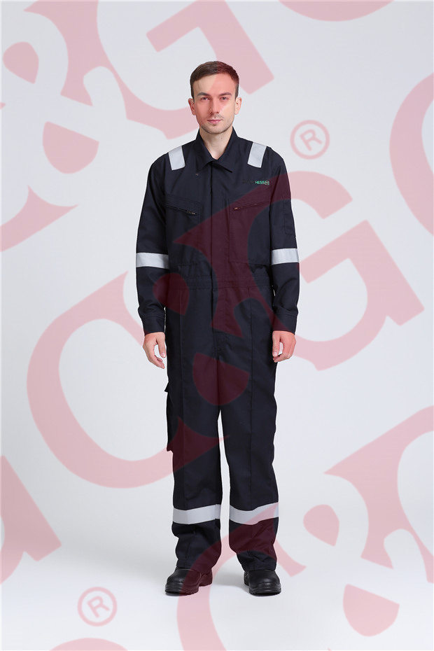 Aramid navy blue coverall