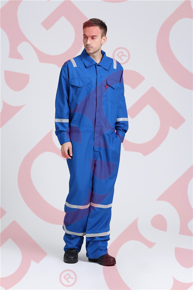 Nomex royal blue coverall