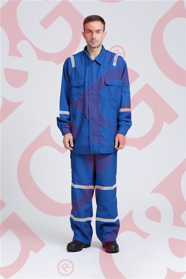 Nomex royal blue jacket and pants