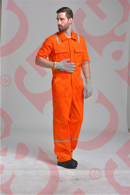 Short Sleeves Coverall