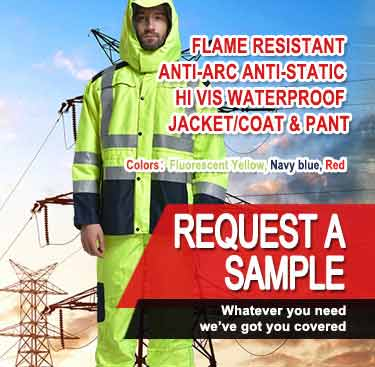 Flame Retardant Anti-Arc Anti-Static Hi Vis Waterproof Jacket/Coat & Pant